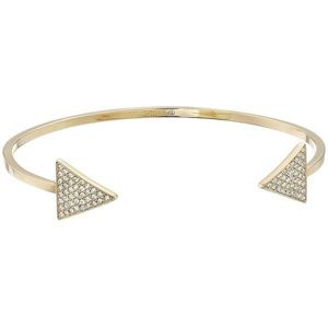 Michael Kors Gold Pave Arrow Open Bracelet